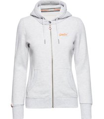 orange label ziphood hoodie trui wit superdry