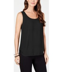alfani petite scoop-neck sleeveless top, created for macy's