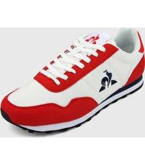 tenis lifestyle blanco-rojo-negro le coq sportif,