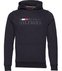 basic hilfiger hoody hoodie trui blauw tommy hilfiger