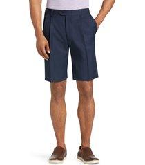 jos. a. bank men's traveler performance pleat front traditional fit comfort waist shorts, navy, 32 regular