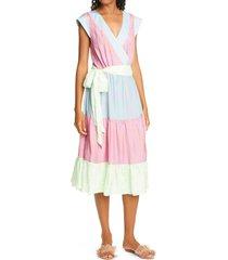 women's tanya taylor jazzie print belted midi dress