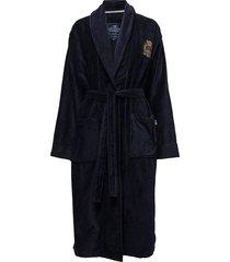 lexington velour robe morgonrock blå lexington home
