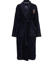 lexington velour robe morgonrock badrock blå lexington home