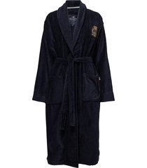 lexington velour robe home night & loungewear robes blå lexington home