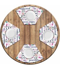 jogo americano love decor para mesa redonda wevans floral rose kit com 4 pçs