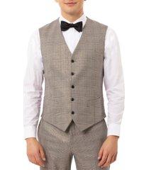 tallia men's slim-fit plaid tuxedo vest