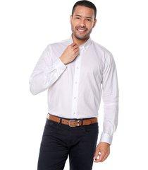 camisa blanco preppy ml cfit unicolor bd