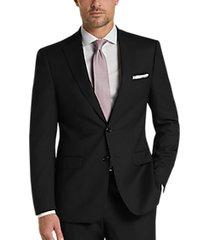 calvin klein black x-fit slim fit suit