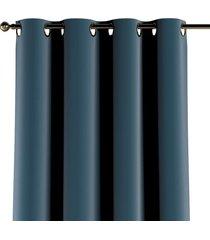 zasłona na kółkach velvet błękit 130x260cm