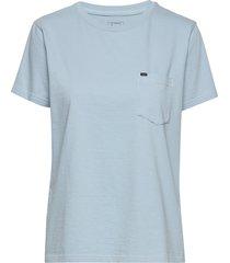 garment dyed tee t-shirts & tops short-sleeved blå lee jeans