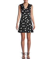 polka dot stretch-silk mini dress