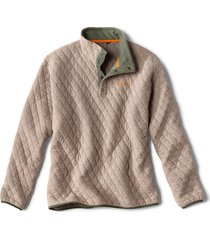 outdoor quilted snap sweatshirt, natural heather, xx large
