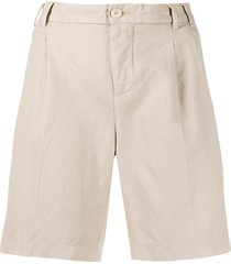 aspesi wide leg chino shorts - neutrals