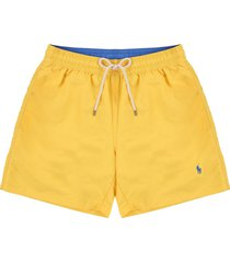 short baño signal yellow polo ralph lauren traveler unicolor