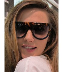 retro gradient leopard sunglasses