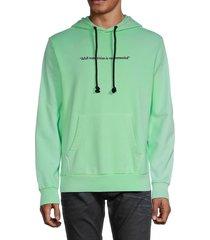 diesel men's s-girk fluorescent hoodie - green - size xxl