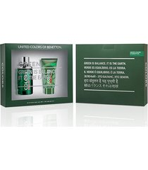 kit colors man green benetton - perfurme masculino eau de toilette 100ml + pós barba 75ml