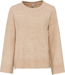maglione oversize con bottoni (marrone) - rainbow