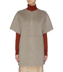 zip short sleeve bell coat