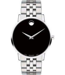 reloj  movado 607199 plateado acero inoxidable