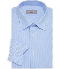 canali men's modern-fit striped dress shirt - blue - size 15.75 40