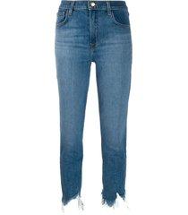 j brand ruby cropped jeans - blue