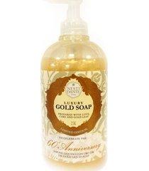 luxury gold soap 60 aniversary nesti dante - sabonete líquido 500ml