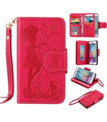 galaxy s6 wallet case,xyx [9 card slot series] wallet folio pu leather case cove