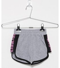 shorts infantil for girl moletinho silk lateral