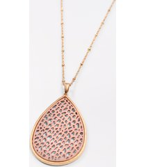 maurices womens metal frame blush cut out necklace pink