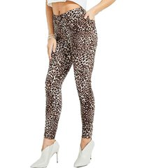 jeans leopard 1981 skinny multicolor guess