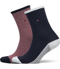 th women sock 2p h ycomb lingerie socks regular socks blå tommy hilfiger