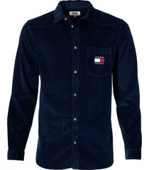 tommy jeans overhemd - regular fit - blauw