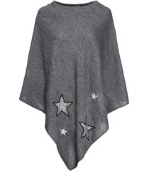poncho con stelle di paillettes (grigio) - bpc bonprix collection