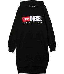 diesel cotton hood dress