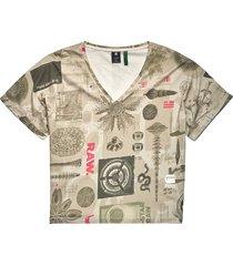 joosa v-neck camo allover t-shirt