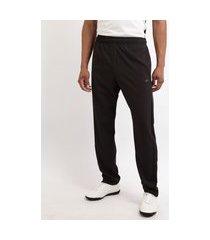 calça masculina esporte ace futebol reta com bolsos preta