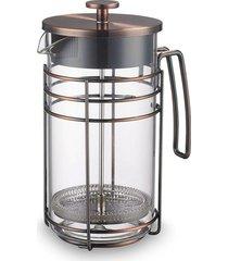 cafeteira francesa oxford de vidro e aço inox 1000ml