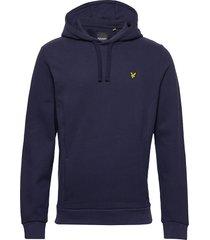 panelled hoodie hoodie trui blauw lyle & scott