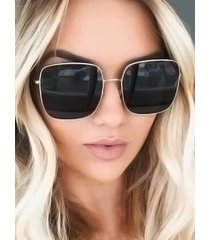 classic square metal beach sunglasses