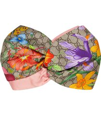 gucci gg flora headband - neutrals