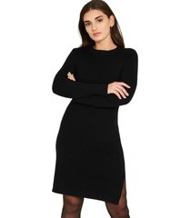 vestido básico tajo negro nicopoly