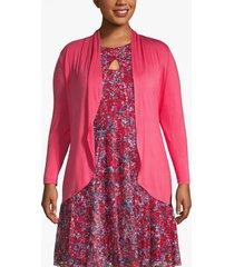 lane bryant women's drape front cardigan 22/24 raspberry wine