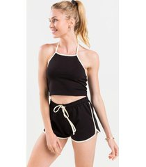mila soft shorts - black