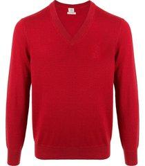 kent & curwen v-neck pullover - red