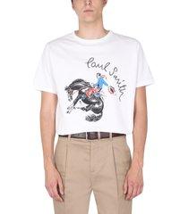 paul smith cowboy print t-shirt