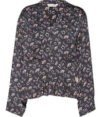 cosmic moments blouse blouse lange mouwen blauw odd molly