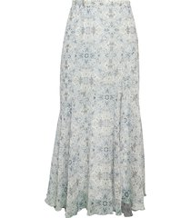 supply & demand women's joslyn long floral skirt - black - size xs