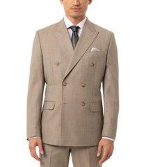 tallia men's slim-fit olive sharkskin double breasted suit separate jacket